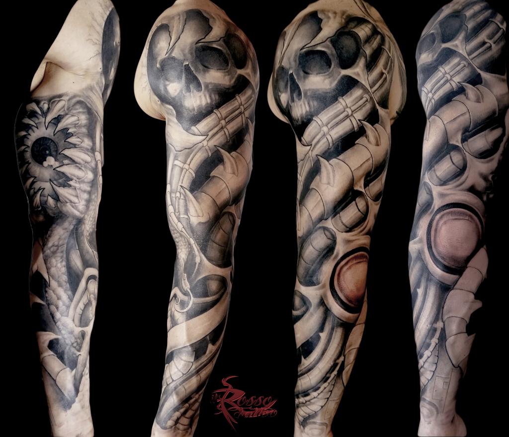braccio bio organico bio organic tattoo tatuaggi