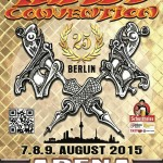 Locandina Berlino tattoo convention del 7-8-9 agosto 2015