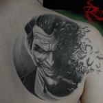 Joker in bianco e nero con dettaglio colorato eseguito un anno fa!! Decisamente guarito :)
