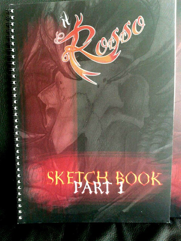 Lo sketchbook del Rosso totalmente disegnato e studiato da lui!! Tante idee tatuaggio per biorganici e tatuaggi biomeccanici