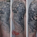 Cover up - composizione floreale - finito