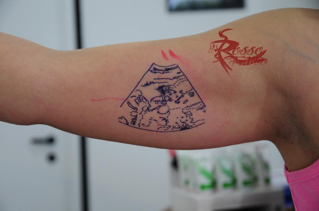 Stencil per tatuaggio ecografia